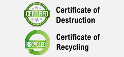 Certificate of Destruction Recycling Center Arizona